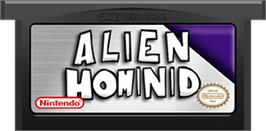 Cartridge artwork for Alien Hominid on the Nintendo Game Boy Advance.