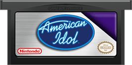 Cartridge artwork for American Idol on the Nintendo Game Boy Advance.