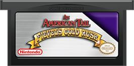 Cartridge artwork for An American Tail: Fievel's Gold Rush on the Nintendo Game Boy Advance.