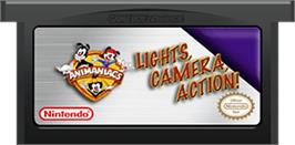 Cartridge artwork for Animaniacs: Lights, Camera, Action on the Nintendo Game Boy Advance.