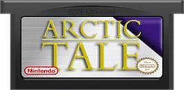 Cartridge artwork for Arctic Tale on the Nintendo Game Boy Advance.