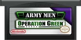 Cartridge artwork for Army Men: Operation Green on the Nintendo Game Boy Advance.