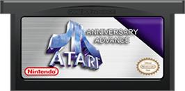 Cartridge artwork for Atari Anniversary Advance on the Nintendo Game Boy Advance.