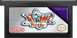 Cartridge artwork for Atomic Betty on the Nintendo Game Boy Advance.