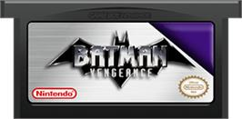 Cartridge artwork for Batman: Vengeance on the Nintendo Game Boy Advance.