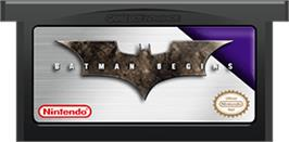 Cartridge artwork for Batman Begins on the Nintendo Game Boy Advance.