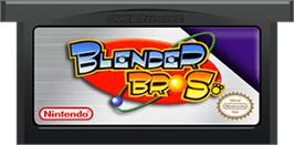 Cartridge artwork for Blender Bros. on the Nintendo Game Boy Advance.