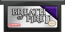 Cartridge artwork for Breath of Fire 2 on the Nintendo Game Boy Advance.
