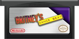 Cartridge artwork for Britney's Dance Beat on the Nintendo Game Boy Advance.