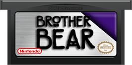 Cartridge artwork for Brother Bear on the Nintendo Game Boy Advance.