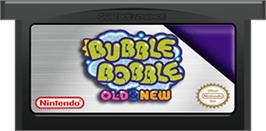 Cartridge artwork for Bubble Bobble Old & New on the Nintendo Game Boy Advance.