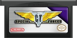Cartridge artwork for CT Special Forces on the Nintendo Game Boy Advance.