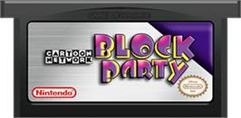 Cartridge artwork for Cartoon Network Block Party on the Nintendo Game Boy Advance.