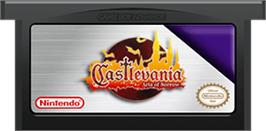 Cartridge artwork for Castlevania: Aria of Sorrow on the Nintendo Game Boy Advance.