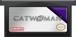 Cartridge artwork for Catwoman on the Nintendo Game Boy Advance.