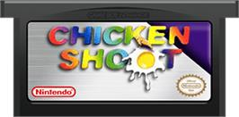 Cartridge artwork for Chicken Shoot on the Nintendo Game Boy Advance.