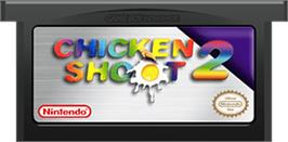 Cartridge artwork for Chicken Shoot 2 on the Nintendo Game Boy Advance.
