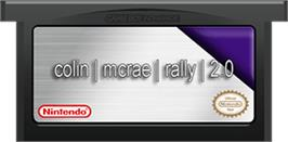 Cartridge artwork for Colin McRae Rally 2.0 on the Nintendo Game Boy Advance.