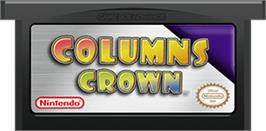 Cartridge artwork for Columns Crown on the Nintendo Game Boy Advance.