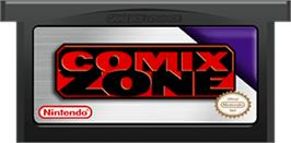 Cartridge artwork for Comix Zone on the Nintendo Game Boy Advance.