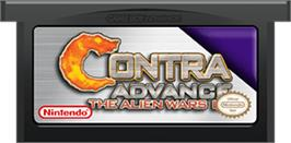 Cartridge artwork for Contra Advance: The Alien Wars EX on the Nintendo Game Boy Advance.