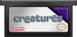 Cartridge artwork for Creatures on the Nintendo Game Boy Advance.