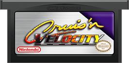 Cartridge artwork for Cruis'n Velocity on the Nintendo Game Boy Advance.
