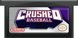 Cartridge artwork for Crushed Baseball on the Nintendo Game Boy Advance.