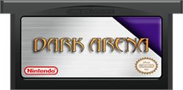 Cartridge artwork for Dark Arena on the Nintendo Game Boy Advance.