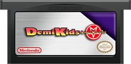 Cartridge artwork for DemiKids: Light Version on the Nintendo Game Boy Advance.