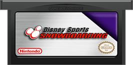 Cartridge artwork for Disney Sports Snowboarding on the Nintendo Game Boy Advance.