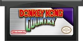 Cartridge artwork for Donkey Kong Country on the Nintendo Game Boy Advance.
