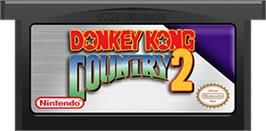 Cartridge artwork for Donkey Kong Country 2: Diddy's Kong Quest on the Nintendo Game Boy Advance.