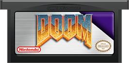 Cartridge artwork for Doom on the Nintendo Game Boy Advance.