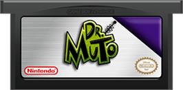 Cartridge artwork for Dr. Muto on the Nintendo Game Boy Advance.