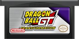 Cartridge artwork for Dragonball GT: Transformation on the Nintendo Game Boy Advance.