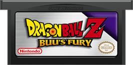 Cartridge artwork for Dragonball Z: Buu's Fury on the Nintendo Game Boy Advance.