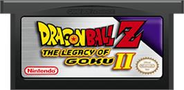 Cartridge artwork for Dragonball Z: Legacy of Goku 2 on the Nintendo Game Boy Advance.