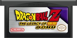 Cartridge artwork for Dragonball Z: The Legacy of Goku on the Nintendo Game Boy Advance.
