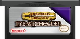 Cartridge artwork for Dungeons & Dragons: Eye of the Beholder on the Nintendo Game Boy Advance.