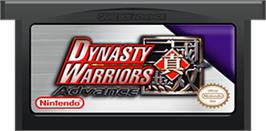 Cartridge artwork for Dynasty Warriors Advance on the Nintendo Game Boy Advance.
