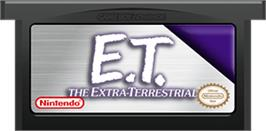 Cartridge artwork for E.T. The Extra-Terrestrial on the Nintendo Game Boy Advance.
