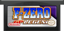 Cartridge artwork for F-Zero: GP Legend on the Nintendo Game Boy Advance.