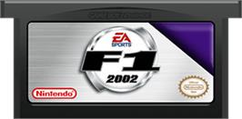 Cartridge artwork for F1 2002 on the Nintendo Game Boy Advance.