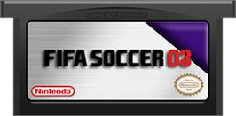 Cartridge artwork for FIFA 2003 on the Nintendo Game Boy Advance.