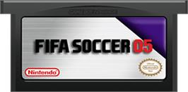 Cartridge artwork for FIFA 2005 on the Nintendo Game Boy Advance.