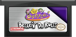 Cartridge artwork for Fairly OddParents: Breakin' Da Rules on the Nintendo Game Boy Advance.