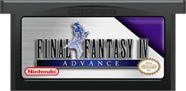 Cartridge artwork for Final Fantasy 2 on the Nintendo Game Boy Advance.