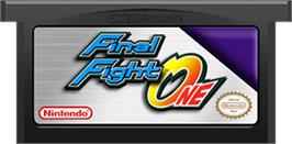 Cartridge artwork for Final Fight on the Nintendo Game Boy Advance.