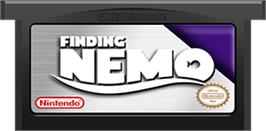 Cartridge artwork for Finding Nemo on the Nintendo Game Boy Advance.